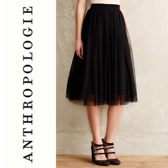 f835debcc5d41 Anthropologie Skirts | Bailey 44 Black Tulle Midi Skirt Nwt | Poshmark